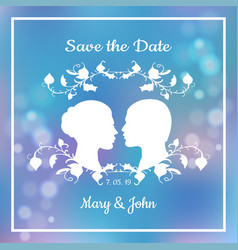 save date invitation card vector image