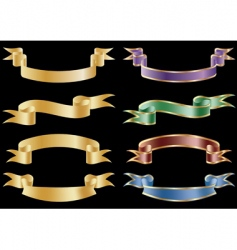 set of 8 banners vector image