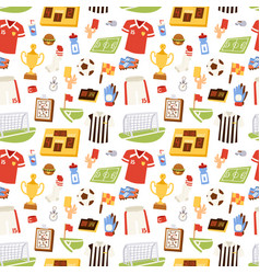 Soccer icons seamless pattern vector