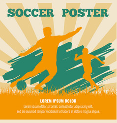 Soccer players poster template vector