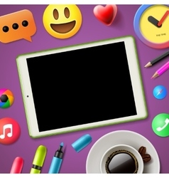 Social media connecting blog vector