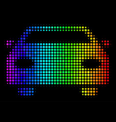 Spectrum dotted car icon vector