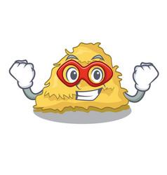 Super hero hay bale character cartoon vector
