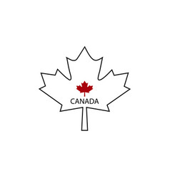 symbol of canada maple leaf vector image