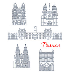 travel landmark of france architecture icon vector image