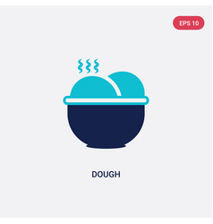 Two color dough icon from gastronomy concept vector