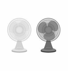 two table fans black and white vector image