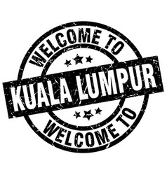 Welcome to kuala lumpur black stamp vector