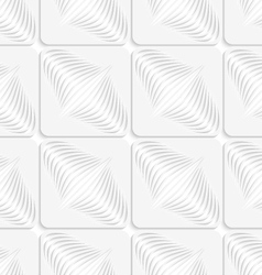 White diagonal onion shapes on squares seamless vector image