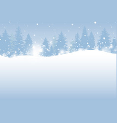 winter and christmas design vector image
