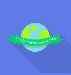 world environment day icon flat style vector image