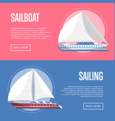 Worldwide sailing flyers with sailboats vector