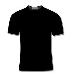 Black t-shirt vector image vector image