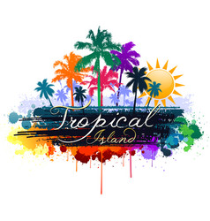 colorful tropical background vector image vector image