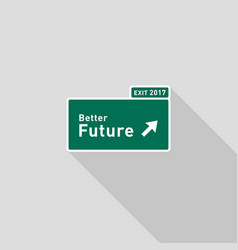 future highway road sign direction flat design vector image vector image