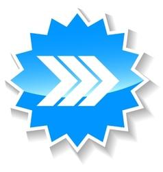 Next blue icon vector image