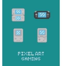Pixel art retro video game vector image