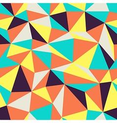 triangular pattern retro colors vector image vector image