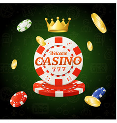 casino chips sign vector image vector image