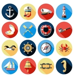Nautical Icon Set vector image vector image
