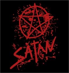 satan symbol vector image