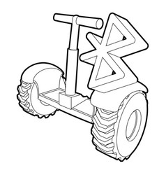 Segway connection icon outline style vector