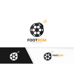 soccer and bomb logo combination ball and vector image vector image