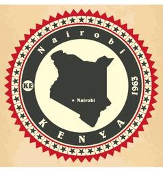 Vintage label-sticker cards of Kenya vector image vector image