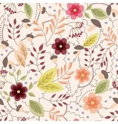 Autumn seamless pattern vintage vector image