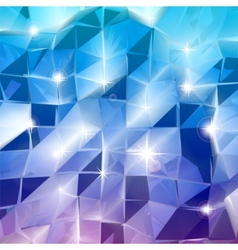 Blue triangles shine background vector image