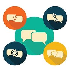 communication speech bubble vector image
