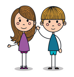 cute little kids drawing vector image