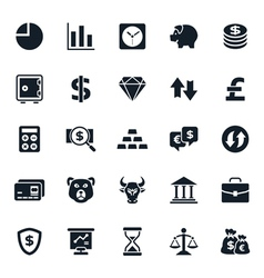 Finance and Stock Icon vector image vector image