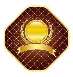 Golden template vector image