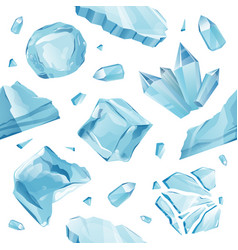 isolated ice caps snowdrifts icicles pattern vector image