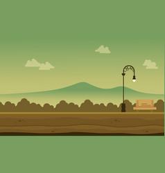silhouette of garden beaty landscape background vector image vector image