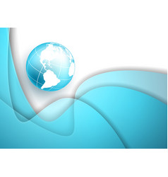 frame with globe vector image vector image