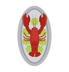Lobster flat vector