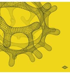 3D Connection Structure Lattice Geometric Element vector image