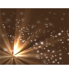 A brown color design with a burst and rays vector image