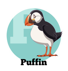 Abc cartoon puffin vector