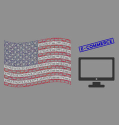 american flag stylized composition computer vector image