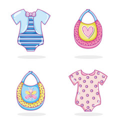 Baby clothes collection vector