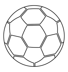 Ball icon outline style vector