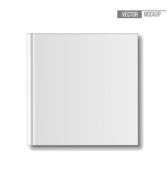 blank book mockup top view template square books vector image