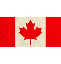 canada paper flag vector image