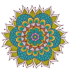 Colorful Floral Mandala vector image