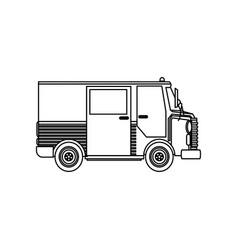 Delivery service truck fast shipping postal vector