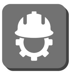 Development Helmet Rounded Square Icon vector