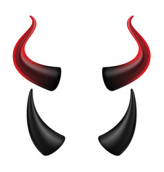 devil horns halloween evil horns sign vector image